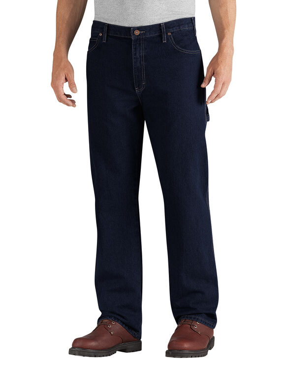 Relaxed Fit Straight Leg Cell Pocket Utility Denim Jean