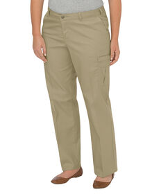 Women's Premium Relaxed Straight Cargo Pant (Plus) - DESERT SAND (DS)