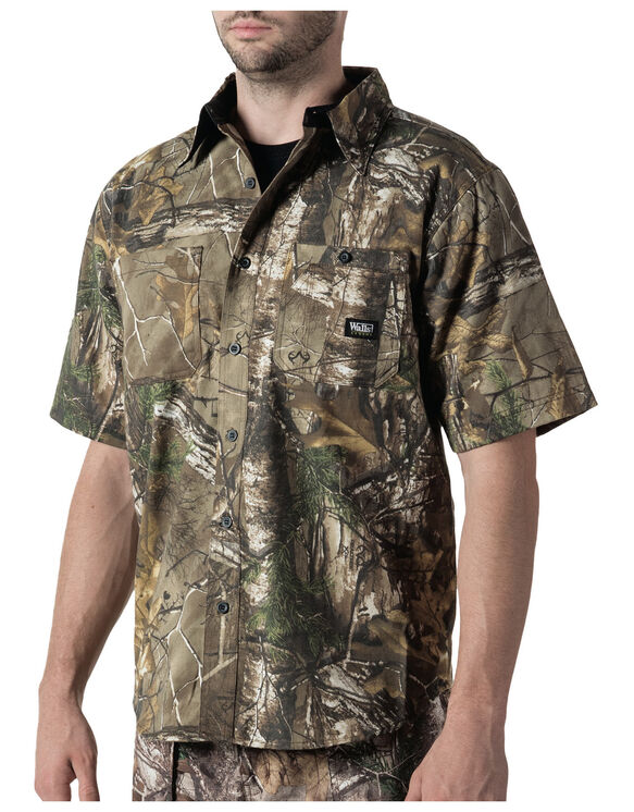 Walls® Hunting Cape Back Short Sleeve Shirt - REAL TREE XTRA (AX9)