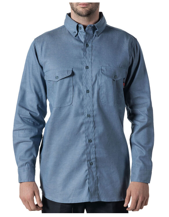 Walls® Flame Resistant Button-Down Chambray Work Shirt - CHAMBRAY (CY9)