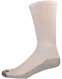 Dri-Tech Comfort Crew Socks, 6-Pack - WHITE (WH)