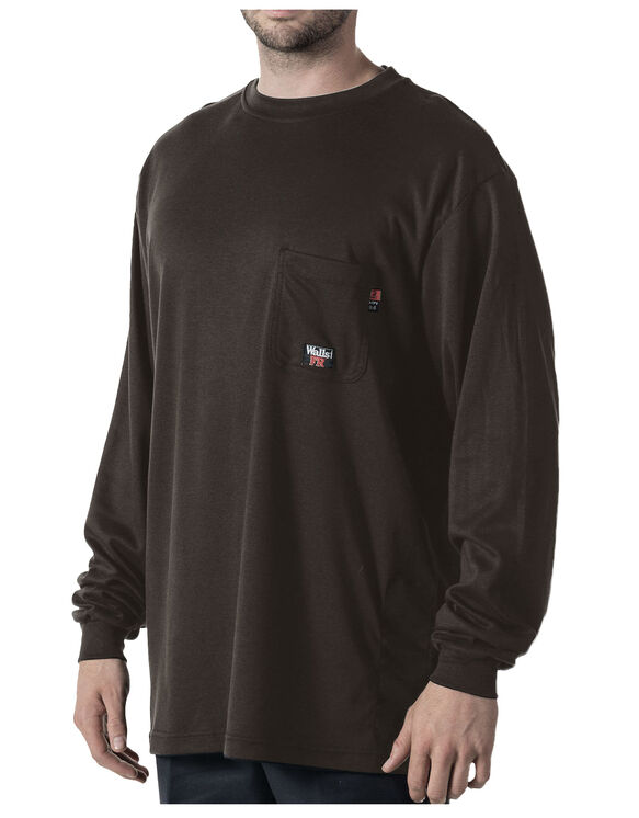 Walls® Flame Resistant Long Sleeve Crew Tee - DARK GRAY (DGY9)