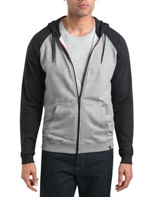 Dickies '67 French Terry Full Zip Hoodie - HEATHER GRAY (HG)