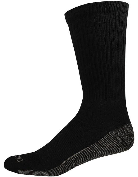 Dri-Tech Comfort Crew Socks, 6-Pack, Size 6-12 - BLACK (BK)