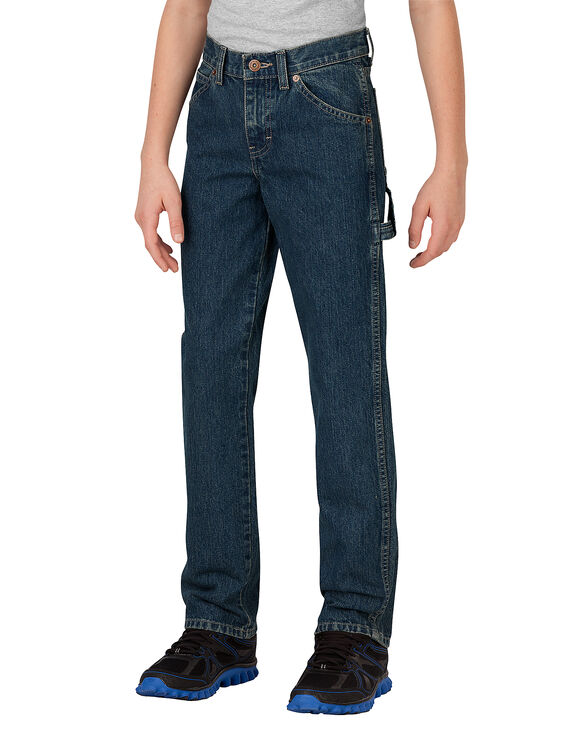 Boys' Relaxed Fit Straight Leg Denim Carpenter Jean, 4-7 - TINTED HERITAGE KHAKI (THK)