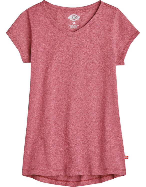 Girls Short Sleeve V-Neck Tee - CORAL REEF (SINGLE DYE) (FCD)