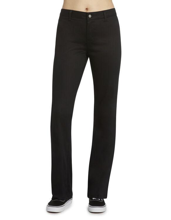 Dickies Girl Juniors Slim Fit Bootcut Leg Worker Pant - BLACK (BLK)