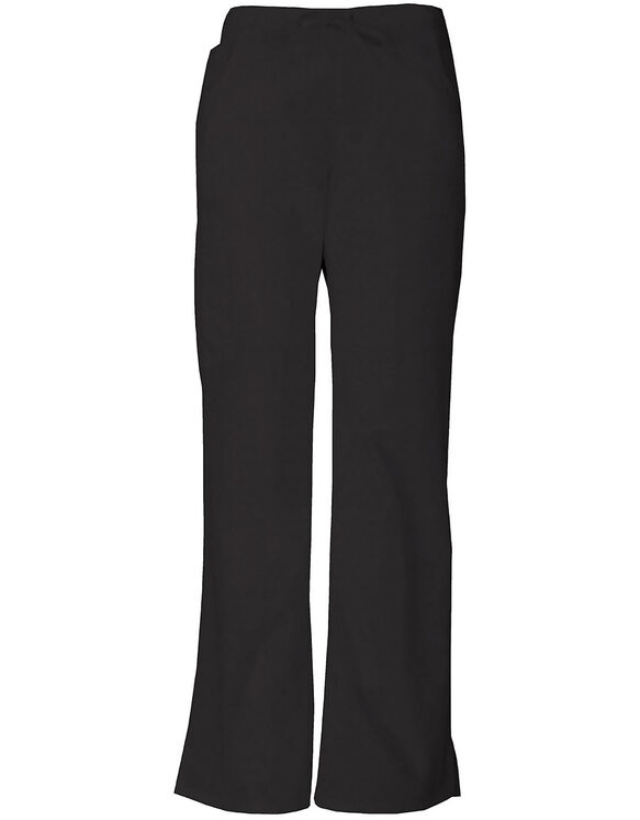 Women's Modern Classic EDS Drawstring Cargo Scrub Pant - BLACK-LICENSEE (BLK)