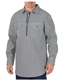 Long Sleeve Half Zip Logger Shirt - HICKORY STRIPE (HS)