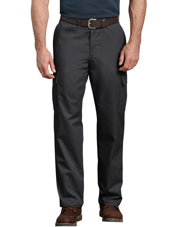 Industrial Relaxed Fit Straight Leg Cargo Pant - BLACK (BK)