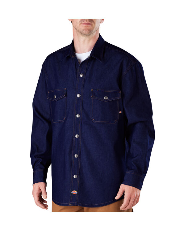 Long Sleeve Denim Welder Shirt - INDIGO BLUE (NB)