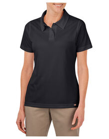 Women's Industrial Performance Short Sleeve Polo - BLACK (BK)