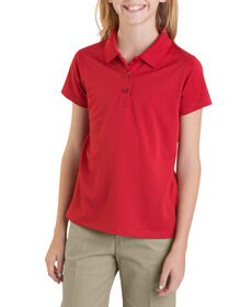 Girls' Performance Short Sleeve Polo, 7-20 - ENGLISH RED (ER)