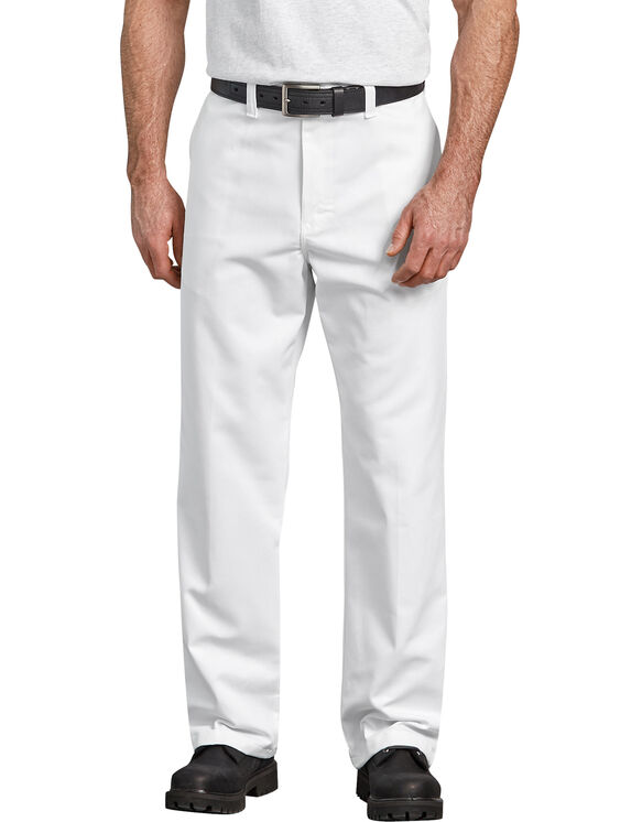 Industrial Relaxed Fit Flat Front Pant - WHITE (WH)