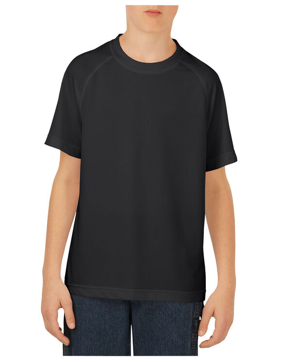 Boys' Short Sleeve Performance Tee, 8-20 - BLACK (BK)