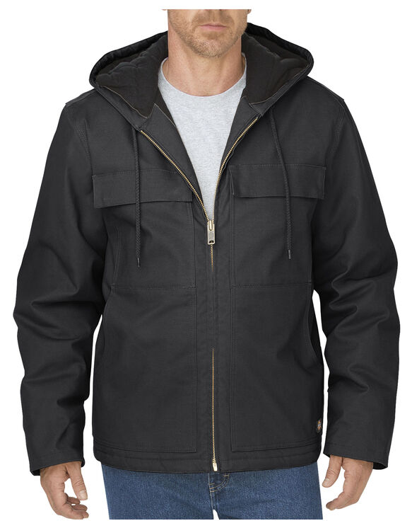 Flex Sanded Stretch Duck Jacket - BLACK (BK)