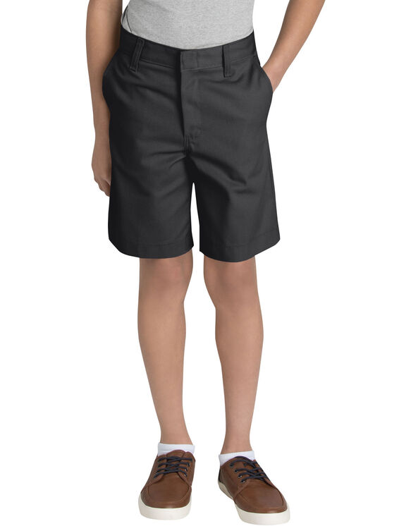 Boys' Flat Front Short, 8-20 (Husky Sizes) - BLACK (BK)