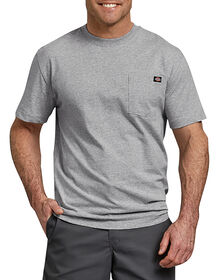 Short Sleeve Heavyweight Crew Neck Tee - HEATHER GRAY (HG)