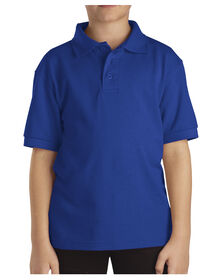 Kids' Short Sleeve Pique Polo Shirt, 4-7 - ROYAL BLUE (RB)