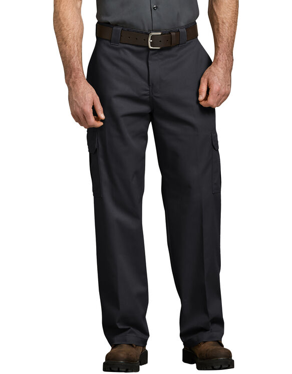 FLEX Relaxed Fit Straight Leg Cargo Pant - BLACK (BK)