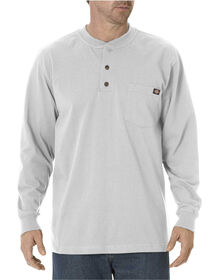 Long Sleeve Heavyweight Henley - ASH GRAY (AG)