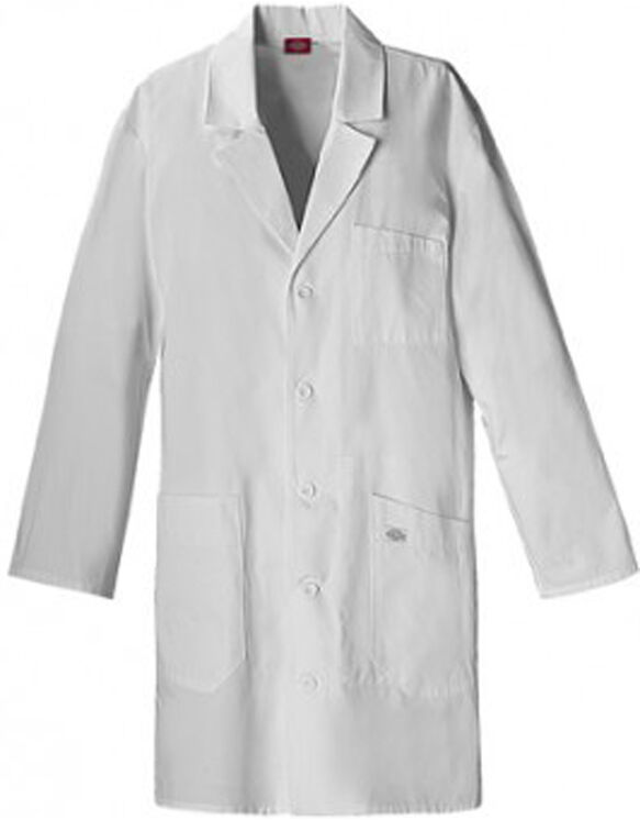 """Unisex EDS 37"""" Lab Coat - DICKIES WHITE-LICENSEE (DWH)"""