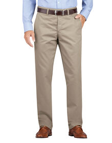 Dickies KHAKI Regular Fit Tapered Leg Flat Front Pant - RINSED DESERT SAND (RDS)