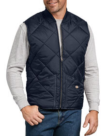 Diamond Quilted Nylon Vest - DARK NAVY (DN)