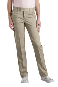 Girls' Slim Fit Straight Leg Stretch Twill Pant, 4-6x - DESERT SAND (DS)