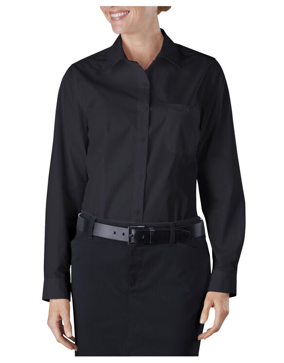Long Sleeve Service Shirt - BLACK (BK)