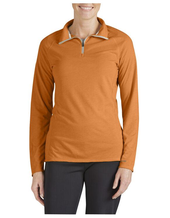 Women's Performance Quarter Zip drirelease® Pullover - MANDARIN (AN)