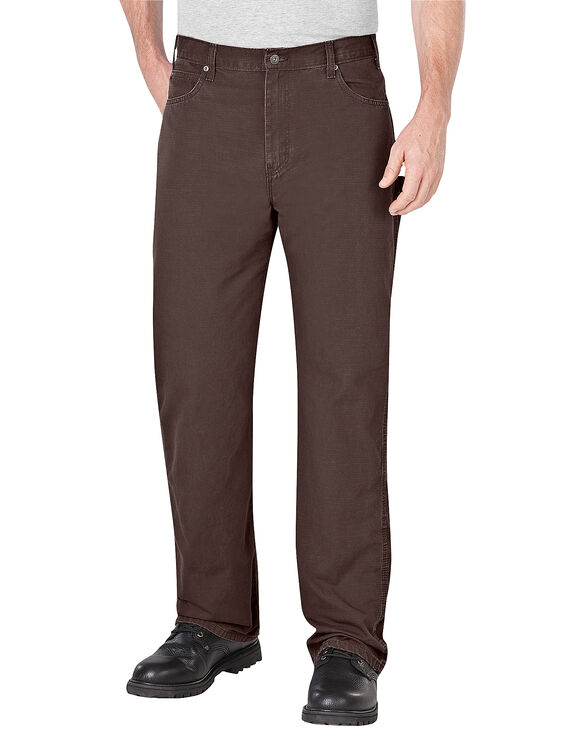 Relaxed Fit Straight Leg Ripstop Carpenter Pant - RINSED DARK BROWN (RDB)