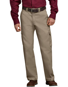 Relaxed Fit Straight Leg Cargo Work Pant - DESERT SAND (DS)