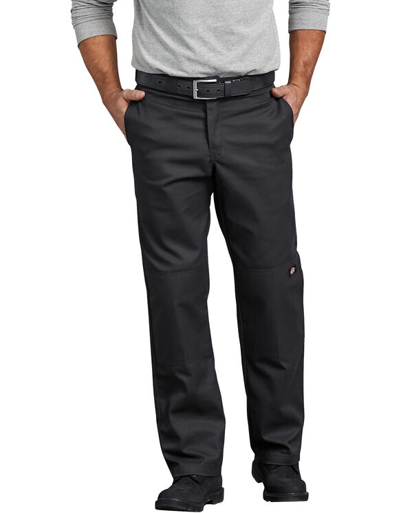 Flex Regular Fit Straight Leg Double Knee Work Pant - BLACK (BK)