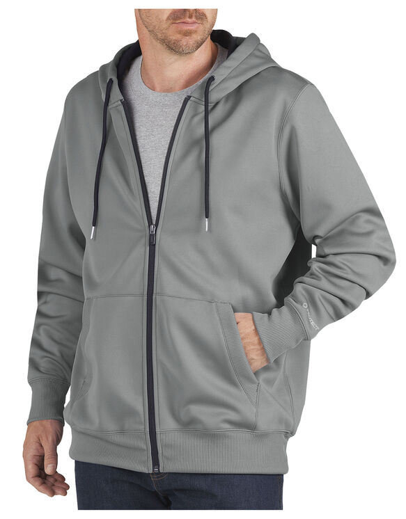 Performance Fleece Full Zip Hoodie - LIGHT SMOKE (LSM)