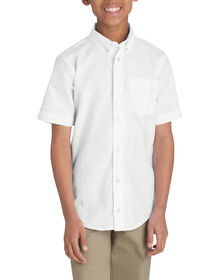 Boys' Short Sleeve Oxford Shirt, 4-20 - WHITE (WH)