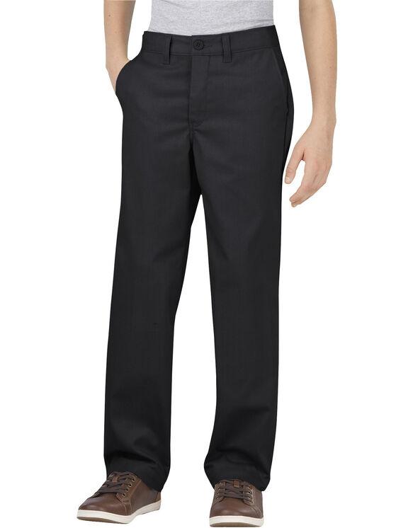 Boys' Flex Classic Fit Straight Leg Ultimate Khaki Pant, 8-20 Husky - BLACK (BK)