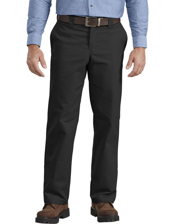 Flex Regular Fit Straight Leg Twill Work Pant - BLACK (BK)