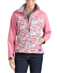 Women's Performance Softshell Jacket - PINK LEMONADE CAMO (NDC)