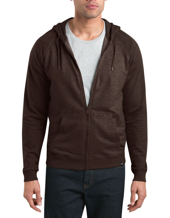 Dickies '67 French Terry Full Zip Hoodie - DARK BROWN (DB)