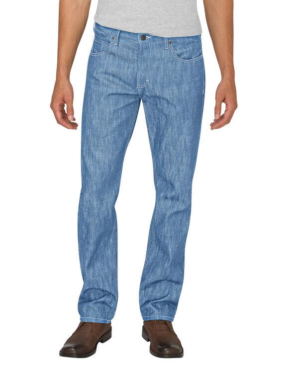 Dickies X-Series Button Fly  Regular Fit Straight Leg 5-Pocket Denim Jean - HERITAGE LIGHT INDIGO (HLI)
