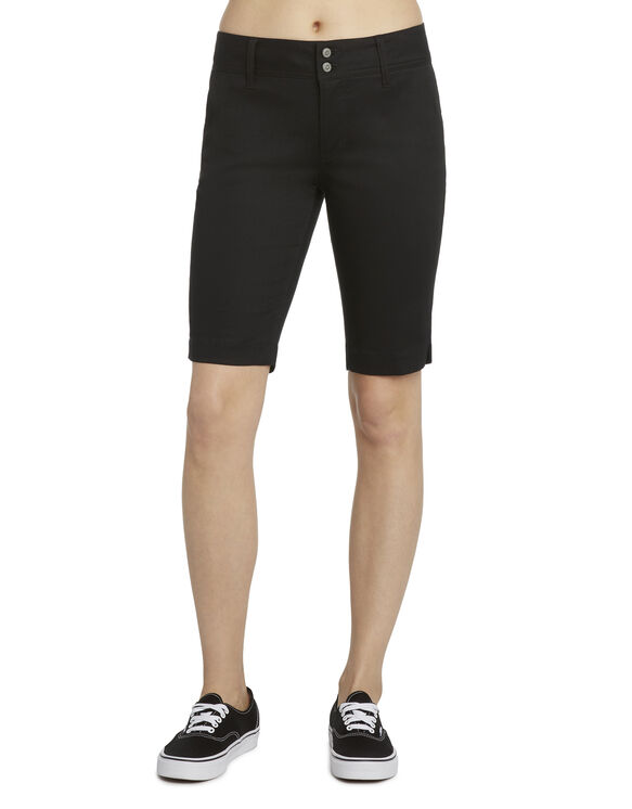Dickies Girl Juniors 4-Pocket Bermuda Short - BLACK (BLK)