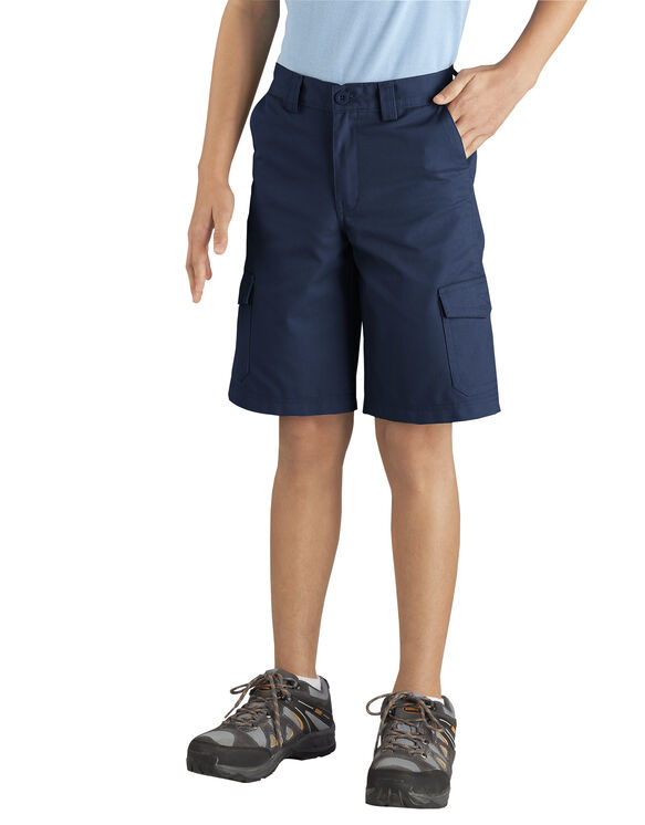 Boys' Relaxed Fit Cargo Short, 8-20 - RINSED DARK NAVY (RDN)