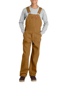 Kids' Duck Bib Overall, 8-20 - RINSED BROWN DUCK (RBD)