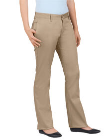 Dickies Girl Juniors Original Fit Lowrider Straight Leg Pant - KHAKI (KHA)