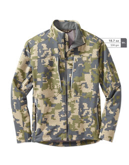 Chinook Green Camo Fleece Hunting Jacket