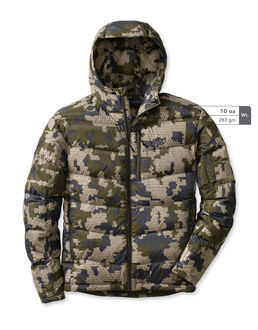 Super Down Hooded Camo Hunting Jacket