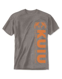 Vertical T-Shirt, Grey Orange