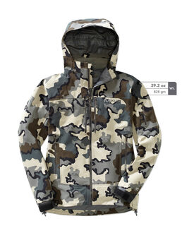 Grey Camo Waterproof Hunting Rain Jacket