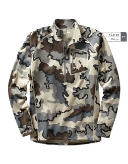 Merino Wool 210 Camo Hunting Zip-T